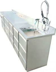 commercial custom maker stainless steel fish cleaning table with