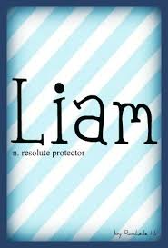 Baby Boy Name Liam Meaning Resolute Protector Origin Hebrew Irish