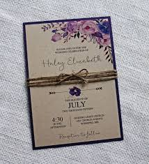 Rustic Floral Wedding Invitation Kraft By LoveofCreating