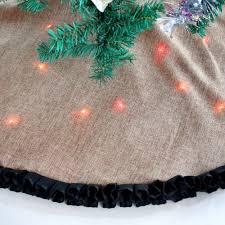 Seashell Christmas Tree Skirt by Burlap Christmas Tree Skirts Christmas Lights Decoration