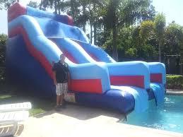 Inflatable Pool Slides Blow Up Pool Slide Walmart