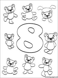 Number 8 Eight Coloring Page