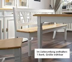 bank sitzbank beistellbank küche esszimmer fichte massiv weiß antik lanatura