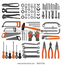 Craft Icons Hand Tools Set 4 Of For Engineering Carpentry Plumbing