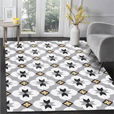 einfache moderne geometrische schwarz und weiß asche gelb blume teppich große größe teppiche für wohnzimmer teppich kinder zimmer nicht slip