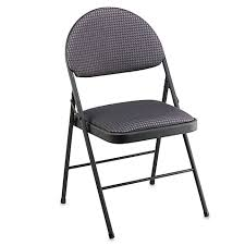 cosco oversized upholstered metal folding chair in black bed