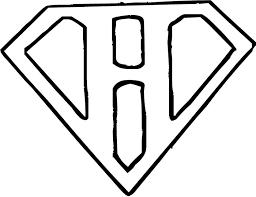 Coloring Pages Superman Logo Letter H