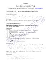 Bank Sales Executive Resume Retail Banking Examples Objectiveirtren