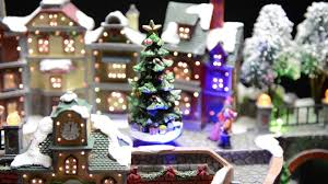 Fiber Optic Christmas Trees The Range by Christmas Led Town With Moving Train Youtube