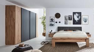interliving schlafzimmer serie 1020 komplettzimmer wildeiche schiefergrau vierteilig liegefläche ca 180 x 200 cm