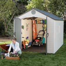 Rubbermaid Slide Lid Shed Manual by What Are The Best Backyard Sheds Best Resin Storage Shed