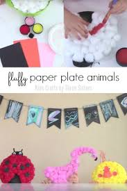 Fluffy Paper Plate Animals
