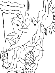 Impressive Ocean Animal Coloring Pages Top Child Design Ideas