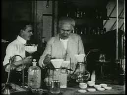 1920s re enactment of edison inventing the light bulb