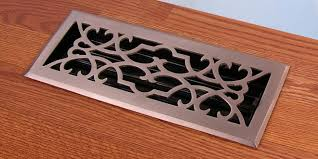 brushed nickel finish victorian floor registers heat vent