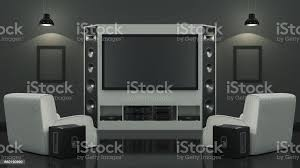 modern living room home cinema stock photo image now