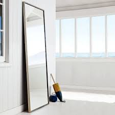 Metal Framed Floor Mirror