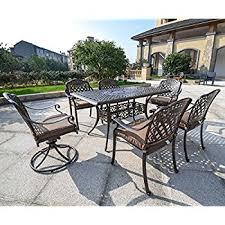 Cast Aluminum Patio Sets by Amazon Com Domi Outdoor Living Patio Furniture Dining Set 4