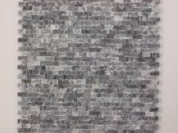 split mini brick grey quartz mosaic terra tile and marble