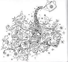 Para Colorear Secret Garden Johanna Basford Watering The Flowers