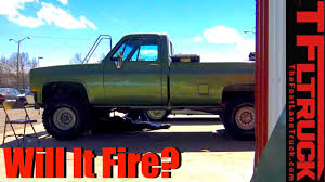 100 The Big Green Truck Will It Fire Chevy 350 ZZ6 Crate Engine Swap Ep9 YouTube