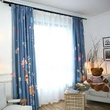 Blue Print Curtains Blue Animal Print Lycra Fabric – evideo
