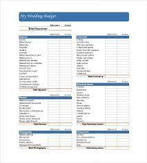 22 Wedding Budget Templates Free Sample Example Format Inside Printable