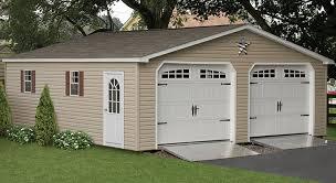 Prefabricated 2 Car Garages & Amish Made Garage Amish Backyard