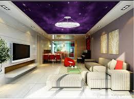 großhandel lila nachthimmel zenith decke design wohnzimmer restaurant decke wandmalerei wandbild wallpaper1688 7 17 auf de dhgate