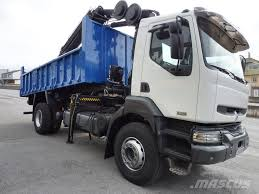 Used Renault 240 Grua HIAB XS 144 E5 Curtain Side Trucks Year: 2004 ...