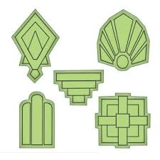 100 Art Deco Shape Inkadinkado Stamping Gear S Design Elements Cling Rubber Stamp
