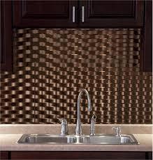 fasade backsplash weave style weave style in rubbed bronze