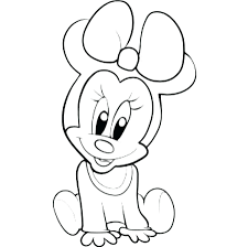 Mickey Mouse Heart Coloring Pages Minnie Love Colouring Mini Print Gallery