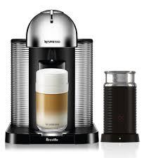 Nespresso VertuoLine Espresso Maker With Milk Frother Chrome