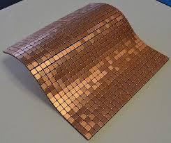 Copper Tiles For Backsplash by Flexipixtile Aluminum Peel U0026 Stick Mosaic Tile Kitchen Backsplash