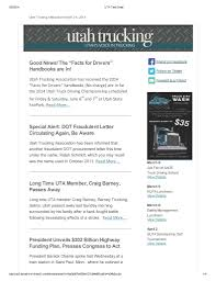 New Newsletter_Page_1 | Utah Trucking Association Nc Truck Driving Schools Best Image Kusaboshicom Sues School Hgv Driver Traing In Swindon Wiltshire Instructor Bill Archer At Sage Located Sage Casper Wyoming Facebook Cdl Guide A List Of Recommended 2017 Media Kit United Ex Truckers Getting Back Into Trucking Need Experience Testimonials Suburban Trucker Applicants Rise Idaho Kxly Rookie Finalist Wishes Hed Started Driving Sooner