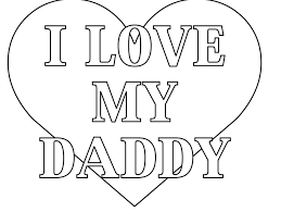Coloring Pages That Say Your Name I Love You Daddy