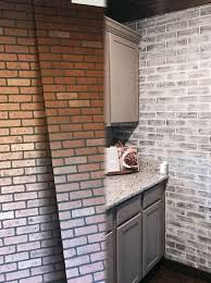 best 25 painted brick backsplash ideas on white brick
