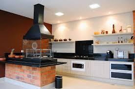 cuisine amercaine photo une cuisine américaine avec barbecue d intérieur