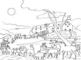 Click To See Printable Version Of Animals Loading Noahs Ark Coloring Page