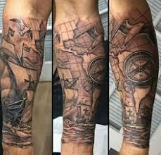 70 Compass Tattoo Designs For Men