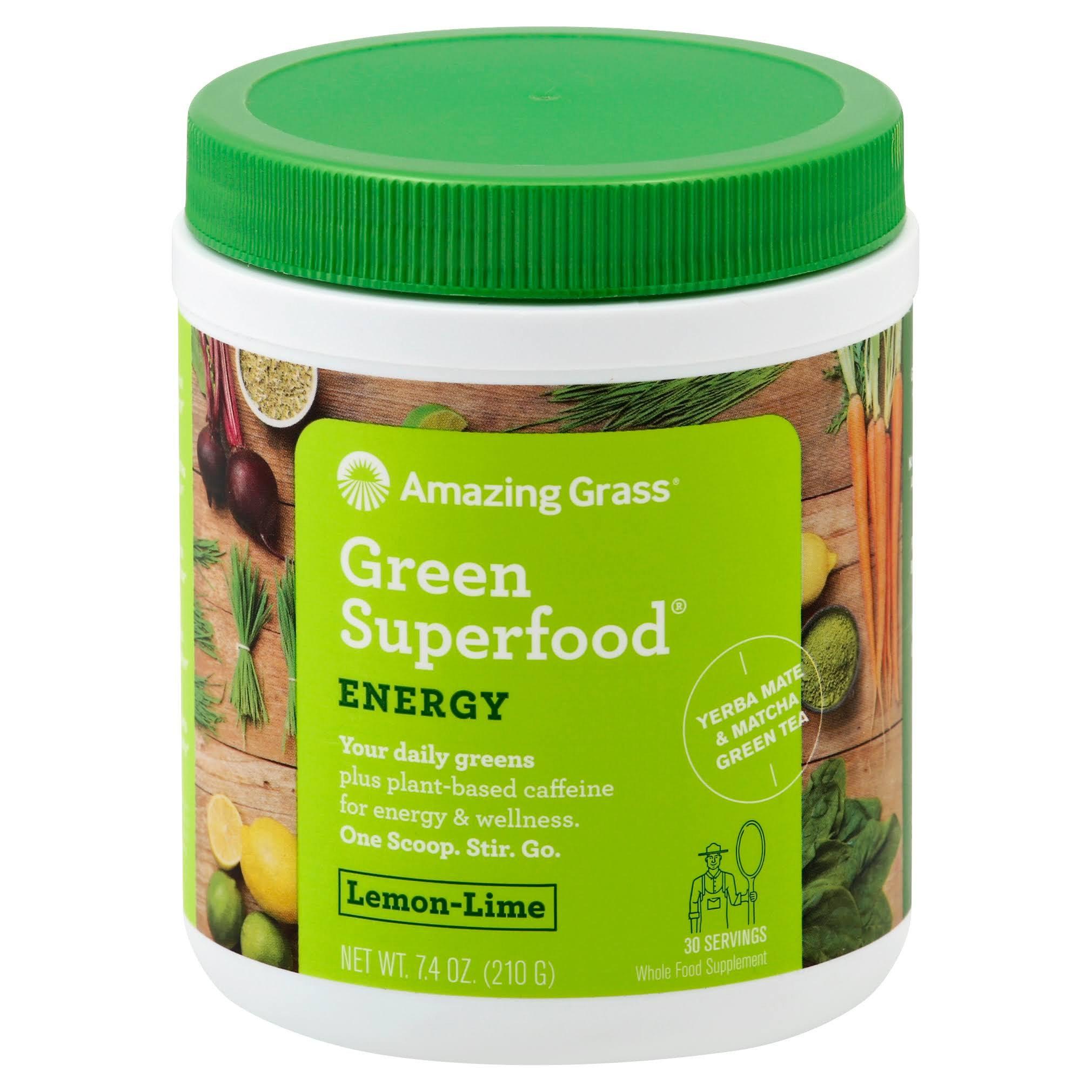 Amazing Grass Green SuperFood Drink Powder - Lemon/Lime, 210g