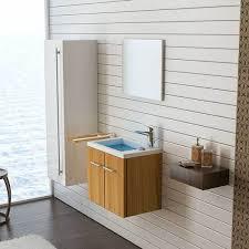 minimo walnuss gäste wc waschbecken mit unterschrank