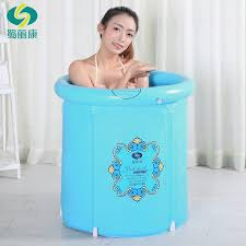 heavy duty adult size folding bathtub inflatable bath tub