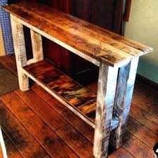 Sofa Table Plans Image Of Rustic With Wheels Free