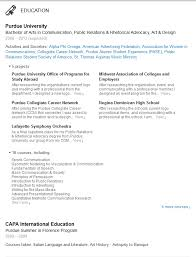 Education Resume Examples