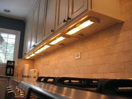 installing led panel lights hardwired cabinet lighting image