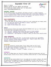 Cv Template For First Job What Should I Put On My CV Resume Ideas