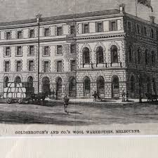 100 Warehouses Melbourne Framed Print GOLDSBROUGHS AND COS WOOL WAREHOUSES MELBOURNE