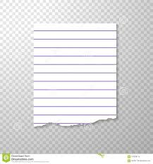 Lined Torn Piece Of Paper From Notebook Clean Or Blank Page With Regard To
